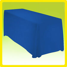 90x132 Rectangle Polyester Tablecloth Wedding Banquet Event - ROYAL BLUE