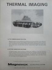 1/1980 PUB MAGNAVOX ELECTRO OPTICAL IR SYSTEMS THERMAL IMAGING NIGHT VISION AD