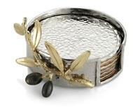 Michael Aram Olive Branch Gold Coaster - Set of 6