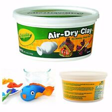 Crayola Air-Dry Modeling Clay Non Toxic Self Hardening 2.5lb Bucket White