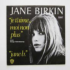 """45 T SP JANE BIRKIN """"JE T'AIME MOI NON PLUS"""" BELGIQUE / HOLLANDE / Gainsbourg"""