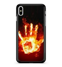 X-Ray Orange Fire Hand ray Printed Cool Skeleton Human 2D Phone Case Cover
