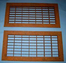 """Lot 2 VTG/Antique Metal Vent Register Floor Grate 18 X 16""""!"""