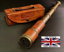 "Marine Antique Telescope 16"" inch Maritime Nautical Brass and Leather Spyglass"