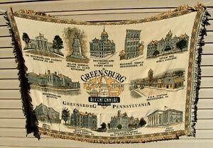 MILL STREET DESIGN 100% Cotton GREENSBURG PA Blanket Throw CITY SCENES 69x51