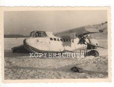 Original Foto deutsches Flugzeug Lastensegler DFS in Wintertarnung  2.WK (1)