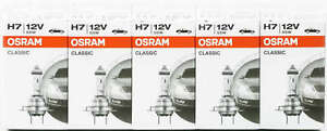 10x Osram H7 Classic 64210 CLC Lampe 12V 55W 64210CLC Autolampe Glühlampe Bir AT