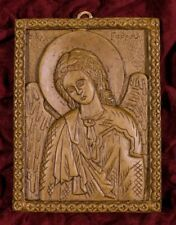Holy Archangel Gabriel Aromatic Christian Wall Icon Hand Carved Beeswax Plaque