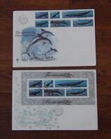 South West Africa 1980 Whales set & Miniature Sheet on First Day Covers