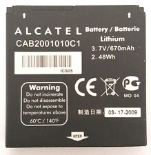 Alcatel OT-S210 OT-S211 OT-S211C OT-S218 OT-V212 Cellphone Battery CAB2001010C1