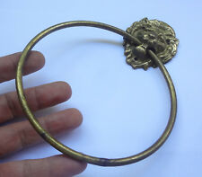 Vintage Solid Brass  LION FACE Pull Handle ? Door Knocker ?