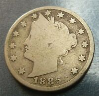 Liberty Head Nickel  1886  Nice Key Coin