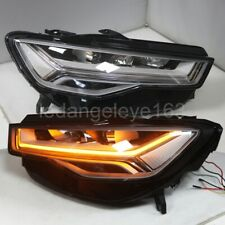 Full LED Head Lights for Audi A6L LED strip front lamps lights 2016-2018 year CN