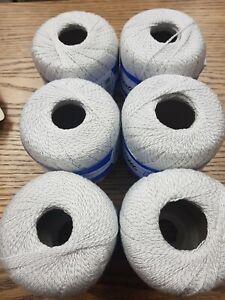 500g Vintage Cotton Luz Azul Mano DK Hilo De Ganchillo