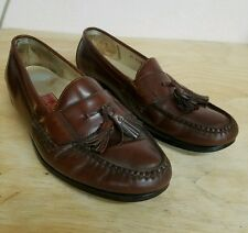 Cole Haan Brown Leather Tassle Loafers 10D GUC