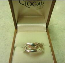 CLOGAU ETERNAL LOVE RING. Silver & Rose gold. size R. Excellent condition.