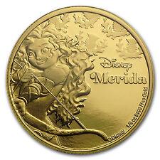 2016 Niue 1/4 oz Proof Gold $25 Disney Princess Merida - SKU #97735