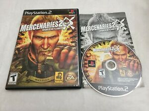 Mercenaries 2: World in Flames (Sony Playstation 2, PS2) ☆Complete☆Tested☆