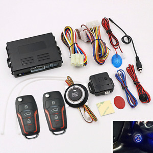 Car Alarm System Auto Security Keyless Entry Push Button Remote Engine Start Kit