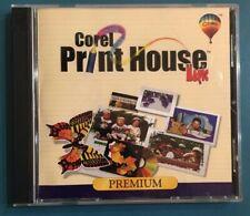Corel Print House Magic 4 Premium Graphics Image Photo Corel Draw Editor 2 Disks