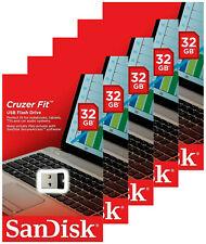 5x SanDisk 32GB Cruzer FIT USB 2.0 Flash Mini Micro Pen Drive SDCZ33-032G Retail