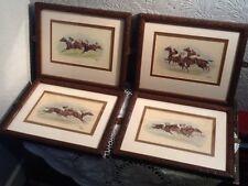 Framed Set of G.Wright Horse Racing Watercolour Prints-Grafiche Tasgotti #4099