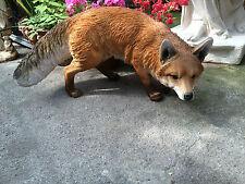 More details for fox , outdoor prowling fox , fox sculpture life like fox resin garden ornament