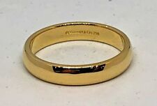 Tiffany & Co 18K Yellow Gold 4.5mm Wedding Band Ring  Size 11