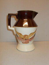 Water Milk Water Whisky Jug Pitcher with Eagle Design USA  Lovely