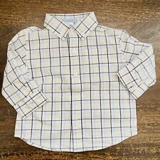 Janie and Jack Baby Boy Button Up Long Sleeve Plaid Dress Shirt Size 6-12M