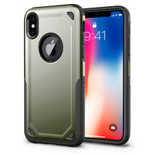 For iPhone X XS/ XR/ XS Max/ 7 8 Plus Shockproof Rugged Armor Rubber Case Cover