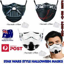STAR WARS Adult Face Mask 2 Filter Washable Reusable Cotton Darth Kylo-Ren Clone