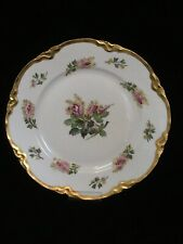 """Hutschenreuther Cabinet Plate Handpainted Signed 10"""" Roses Gilded Edge"""