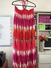 Pretty NOBO Smocked Bust w/Beaded Halter Maxi Dress-Juniors-Size XXL-2XL-NEW