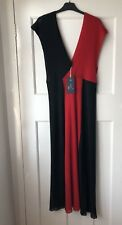 Zara Red/black Two Tone Maxi Dress Size M