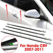 For Honda CR-V CRV 2007-2011 4Pcs Car Window Moulding Weatherstrips Seal Trim