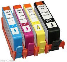 4x NonOem HP 364 XL Ink Cartridges Combo Pack Multipack Quality Like Genuine