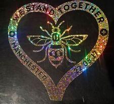 Manchester Bee Heart Decal CAR Van Window Sticker glitter gold