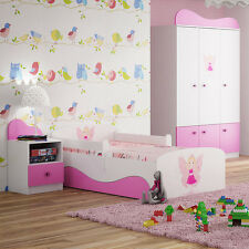 160x80 & 180x80 Toddler Children Kids Junior Bed with Mattress Drawer BOYS&GIRLS
