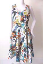 CLOSET LONDON  Sleeveless Floral  Dress Made in London UK Size 8 US 4