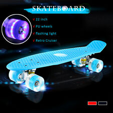 2020 NEW 22'' LED Skateboard Complete Outdoor Street Long Board Kids Penny Style