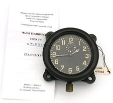 Soviet WWII 1940 AirForce Cockpit Clock ACO (AChO) for I-16 fighters, w/ Heater!