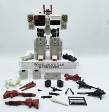 Metroplex WHIE MINT RUBBER TIRE 100% Complete 1985 G1 Transformers Vintage