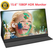 Portable Monitor 15.6'' HD USB Type C IPS Display Screen for Laptop Phone PS4
