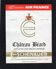 ST EMILION PETITE ETIQUETTE AVION CHATEAU BEARD RESERVE AIR FRANCE §05/02/18§