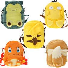 20cm Pokemon Plush Backpack Bag Outdoor Chest Bag Shoulder Satchel Cute Kids