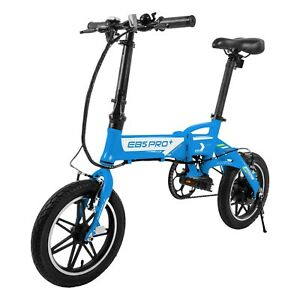 Swagtron EB5 PRO Folding Electric Bike City eBike w/ Swappable Battery + Pedals