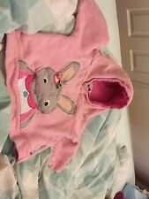Olive And Moss Pink Baby Girl's Hooded Top 1-2 Years Betty Bunny Cotton