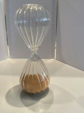 Orange Sand Hourglass Timer Minute Round Glass Time Is 1/2 Hour