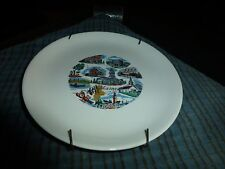 "Vintage Maine State Sheffield Pottery Wall Hanging Plate 6"" Sheffield, Ma Usa Vg"